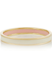 Enameled 18-karat gold ring