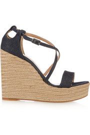 Jenny denim espadrille wedge sandals