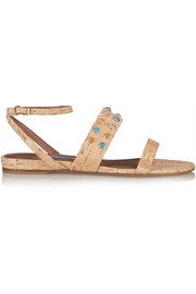 Tabitha Simmons Orla embellished cork sandals