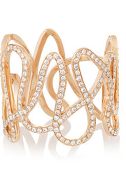 Repossi White Noise 18-karat rose gold diamond ring