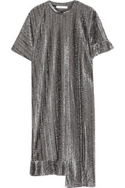 Julien David Metallic knitted midi dress