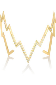 Miss Zeus 18-karat gold diamond cuff