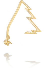 Miss Zeus 18-karat gold diamond ear cuff
