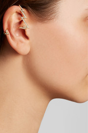 Venyx Miss Zeus 18-karat gold diamond ear cuff