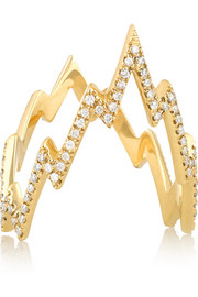 Miss Zeus 18-karat gold diamond ring