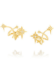 Lady Australis 18-karat gold diamond earrings