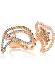 Wonderland Hedy Lamarr 18-karat rose gold, diamond and sapphire ring