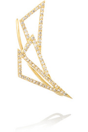 Wonderland Daisy 18-karat gold diamond earring