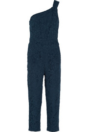 J.Crew Collection one-shoulder guipure lace jumpsuit