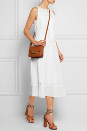 Pardi broderie anglaise-trimmed cotton and silk-blend midi dress