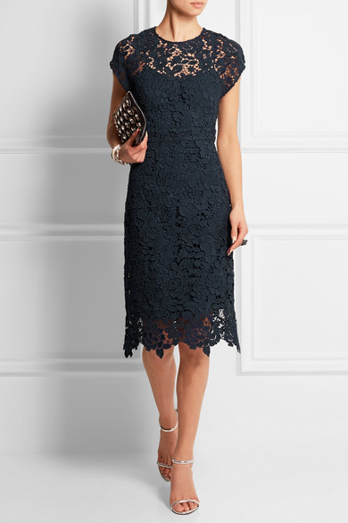 J crew collection scalloped lace dress