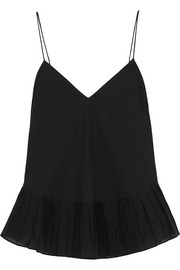 J.Crew Melinda cotton-voile and organza camisole