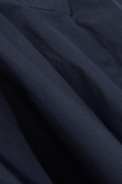 J.Crew Himara fluted cotton-poplin midi dress