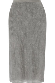 Collection metallic ribbed jersey skirt