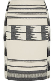 Collection Lianos printed cotton-blend canvas skirt