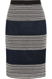 Jasmine layered cotton-canvas pencil skirt