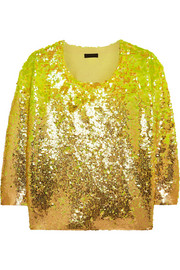 Collection sequined merino wool sweater