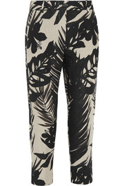 Jacques printed linen tapered pants