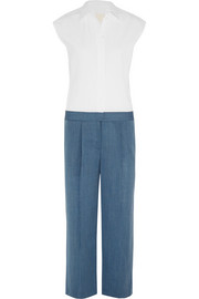 + Thomas Mason® cotton-poplin and wool jumpsuit