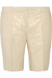 Bocono metallic linen shorts
