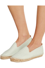 Amazonia snake-effect leather espadrilles