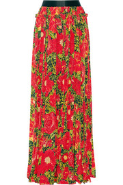 Liberty printed silk crepe de chine maxi skirt