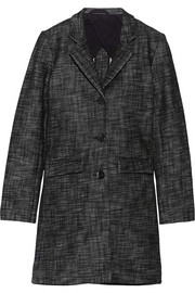 Oversized cotton-tweed coat