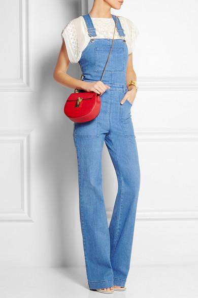 chloe marcie small leather crossbody bag - Chlo�� | Drew mini textured-leather shoulder bag | NET-A-PORTER.COM