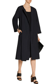 Belted cotton coat