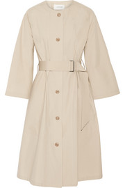 Cotton-poplin trench coat