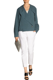 Oversized cotton-poplin jacket