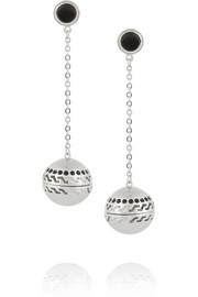 Studio 54 rhodium-plated scented earrings
