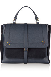Edoard textured-leather and suede tote