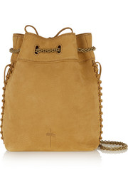 Gary whipstitched nubuck shoulder bag