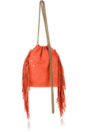 Gary small fringed nubuck shoulder bag