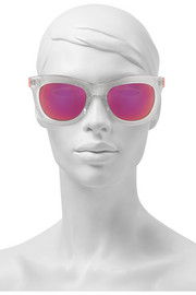 D-frame glittered acetate sunglasses