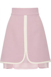 High-rise crepe skirt