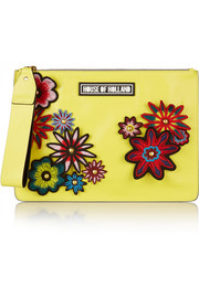 Bag of Tricks embellished leather clutch