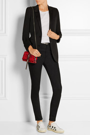 Saint Laurent Satin-trimmed wool-crepe tuxedo blazer