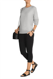 James Perse Cropped Supima cotton-terry track pants