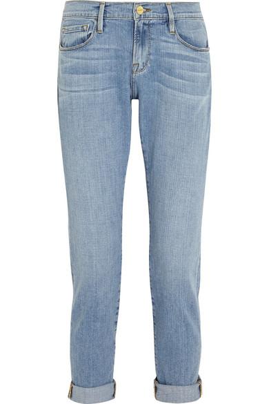 frame le garcon mid rise slim boyfriend jeans net a. Black Bedroom Furniture Sets. Home Design Ideas