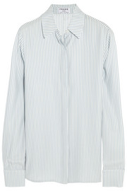 Le Classic striped silk-charmeuse shirt