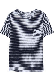 Frame Denim Le Boyfriend striped linen T-shirt