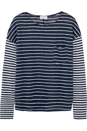 Le Boyfriend striped linen top