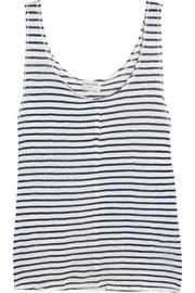 Le Muscle striped linen tank