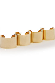Maison Margiela Set of four gold-plated rings
