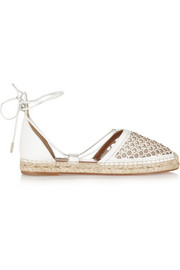 Blondie cutout leather espadrilles