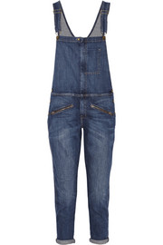 The Zip stretch-denim boyfriend overalls