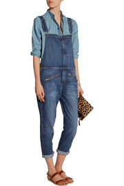 Current/Elliott The Zip stretch-denim boyfriend overalls