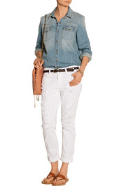 The Socal Western distressed stretch-denim shirt